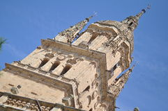 Szczegół Salamanca Jerà ³ nimo Katedralny wierza Obraz Stock