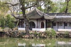 Szczegół Skromnie administratora ` s ogród Suzhou, Chiny Zdjęcia Royalty Free