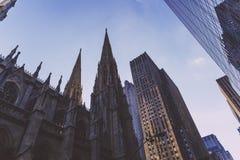 Szczegół St Patrick ` s Cathedrail w Manhattan NYC Zdjęcie Stock