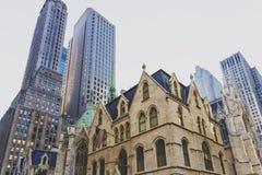 Szczegół St Patrick ` s Cathedrail w Manhattan NYC Obrazy Stock