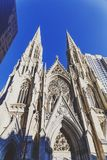 Szczegół St Patrick ` s Cathedrail w Manhattan NYC Fotografia Stock