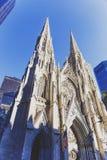 Szczegół St Patrick ` s Cathedrail w Manhattan NYC Zdjęcia Royalty Free