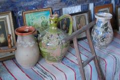 Szczegół stara tradycyjna kuchnia Fotografia Royalty Free