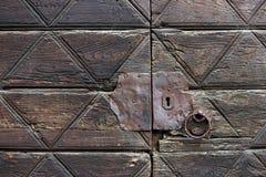 Szczegół stary drewniany drzwi Zdjęcie Royalty Free
