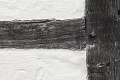 Szczegół stary historyczny ramowy dom Fotografia Stock