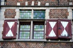 Szczegół starzy okno, Gent Zdjęcia Stock
