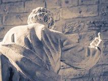 szczegół statua za katedra Palermo, Sicily Fotografia Royalty Free