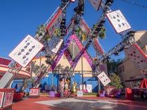 Szczegół szalenie hatter scena w Hollywood studiach przy Disney Kalifornia przygody parkiem Zdjęcie Royalty Free