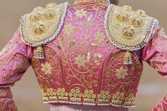 Szczegół traje De Luces lub bullfighter suknia Zdjęcia Royalty Free