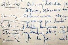szczegółu handwriting Obrazy Royalty Free