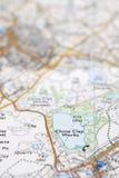 szczegółu makro- mapy os Zdjęcia Stock