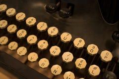 szczegóły antyczny klucz maszyny do pisania Obrazy Stock