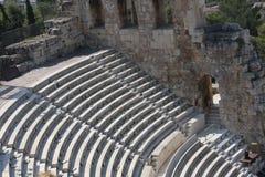 Szczegóły Antyczny Odeon Herodes Atticus w Ateny, Grecja na akropolu wzgórzu Obraz Royalty Free
