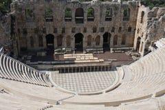 Szczegóły Antyczny Odeon Herodes Atticus w Ateny, Grecja na akropolu wzgórzu Fotografia Royalty Free