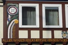 Szczegóły dom w centrum Hameln, w Niemcy zdjęcia royalty free