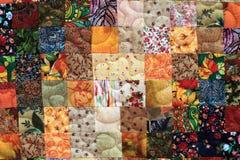 Szczegóły domowej roboty patchwork Zdjęcia Royalty Free
