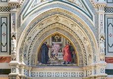 Szczegóły Florencja Baptistery Obraz Royalty Free