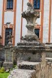 Szczegóły historycznego budynku jezuita monaster i alumnat, Kremenets, Ukraina Zdjęcia Stock