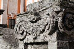 Szczegóły historycznego budynku jezuita monaster i alumnat, Kremenets, Ukraina Obraz Royalty Free