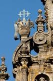 Szczegóły katedra, Santiago De Compostela Obraz Royalty Free