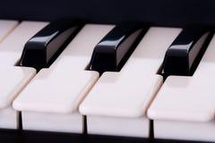 szczegóły klawiatury pianino Obrazy Royalty Free
