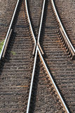 Szczegóły linie kolejowe Obraz Stock