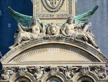 Szczegóły louvre muzeum Zdjęcia Royalty Free