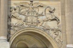Szczegóły louvre muzeum Zdjęcie Royalty Free