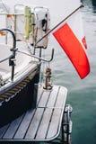 Szczegóły luksusowy jacht Zdjęcia Stock
