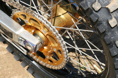 szczegóły motocross rower zdjęcie stock