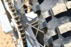 szczegóły motocross rower Obrazy Stock