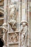 Szczegóły na Duomo katedrze w Mediolan zdjęcie royalty free