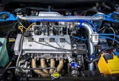 Szczegóły nowy samochodowy silnik Fotografia Royalty Free