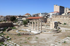 Szczegóły rzymska agora Zdjęcia Stock