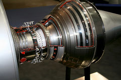 szczegóły samolotów odrzutowiec silnika Obraz Stock