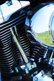 szczegóły silnika motocykla Zdjęcia Royalty Free