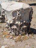Szczegóły stare ruiny przy Pergamum Obraz Stock