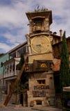 Szczegóły sztuk fasady i budynku wystrój w Tbilisi Zdjęcia Royalty Free