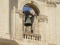 Szczególnie dzwonkowy wierza katedralny miasto Noto Zdjęcia Stock