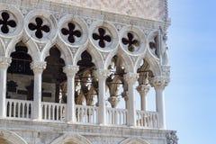 Szczególny widok San Marco kwadrat, Palazzo Ducale (Wenecja Ital Fotografia Stock