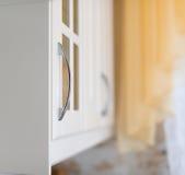 Szczegół biała kuchnia Fotografia Royalty Free