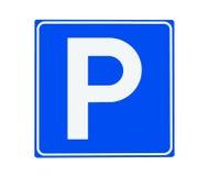 Parkuje znak Obrazy Royalty Free