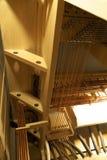 Szczeg?? elektronika wielki fajczany organ fotografia stock