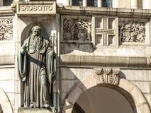 Szczeg?? fasada monaster St Benedykt i ko?ci?? Nasz dama wniebowzi?cie, w Sao Bento kwadracie, w centrum Sao Paul fotografia stock