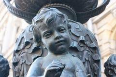 Szczeg?? lampion z dzieciakami zdjęcia royalty free