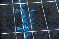 Szczeg?? panel s?oneczny, Photovoltaic, Alternatywny elektryczno?ci ?r?d?o, panel s?oneczny tekstura obrazy stock
