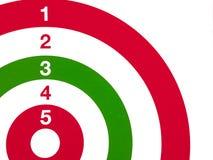 szczegółu zielony czerwony strzelaniny celu biel Obrazy Stock