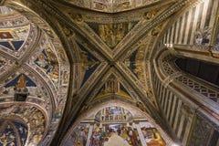 Szczegóły battistero Di San Giovanni, Siena, Włochy Obraz Stock