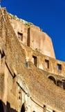 Szczegóły Colosseum lub Flavian Amphitheatre w Rzym Fotografia Stock
