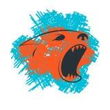 Szczekliwy pies głowy sylwetki szablon Zdjęcia Stock
